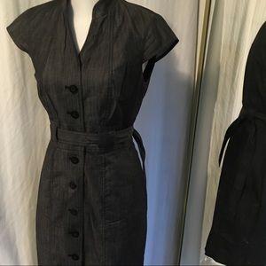 Calvin Klein button down shift dress